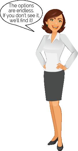 Short Auburn Standing Woman