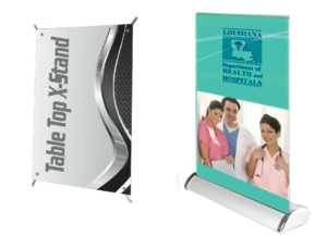 Table Top X-Stand & Retractable Banner